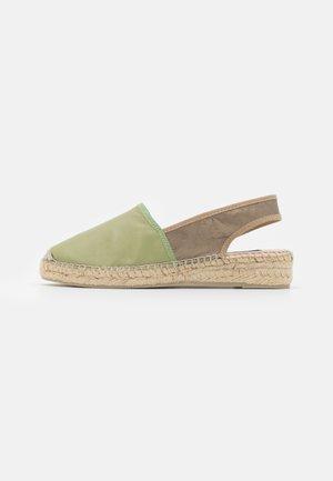 Platform sandals - pharos salvia/plata vieja