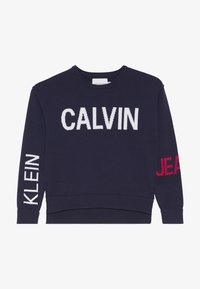 Calvin Klein Jeans - STAMP LOGO  - Trui - blue - 4
