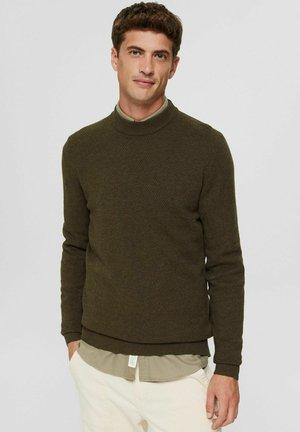 Stickad tröja - new dark khaki