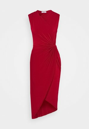 SIDE KNOT DRESS - Sukienka koktajlowa - cherry