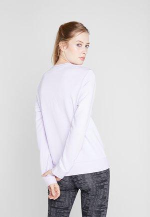 Sweatshirt - purple/white
