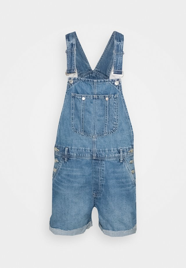 SHORTALL DELVIN - Dungarees - medium indigo