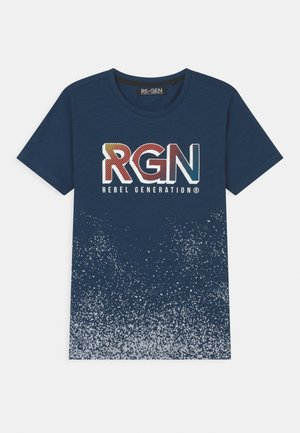 TEEN BOYS - Print T-shirt - estate blue