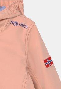 TrollKids - GIRLS TROLLFJORD - Soft shell jacket - apricot/lavender/dark purple - 2