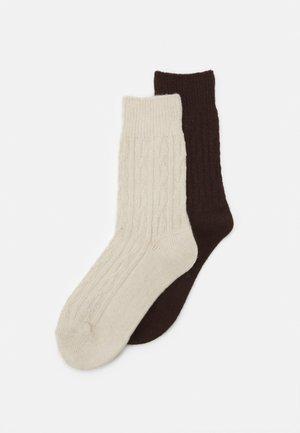 WOMEN HYGGE SOCKS 2 PACK - Socks - espresso melange