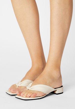 VEGAN EMSY  - T-bar sandals - white dusty light
