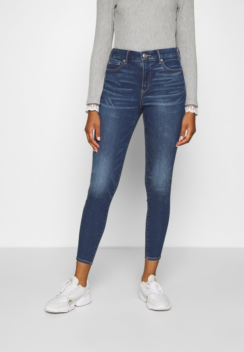American Eagle - CURVY HI RISE - Slim fit jeans - indigo abyss