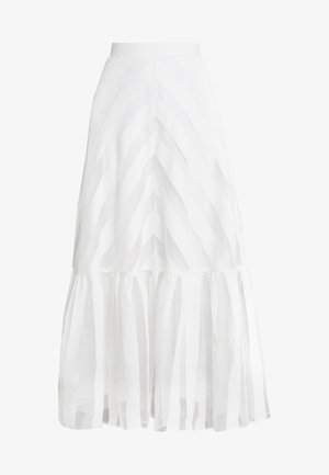 VOLANT SKIRT - Maxiskjørt - snow white