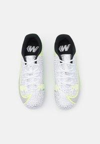 Nike Performance - JR MERCURIAL VAPOR 14 ACADEMY FG/MG UNISEX - Moulded stud football boots - white/black/metallic silver/volt - 3