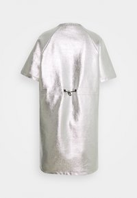 KARL LAGERFELD - COATED LOGO DRESS - Day dress - silver - 1