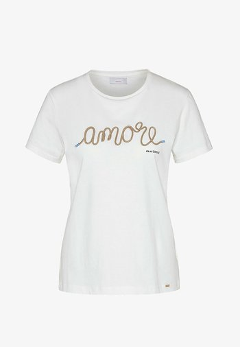 Print T-shirt - weiß