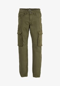 s.Oliver - SKINNY FIT - Cargo trousers - khaki - 1
