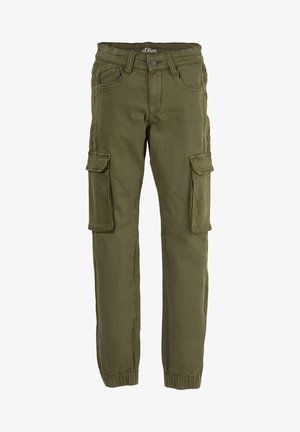 SKINNY FIT - Cargo trousers - khaki