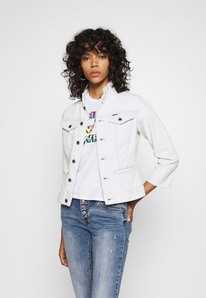 UTILITY SLIM JACKET - Spijkerjas - beach faded larimar