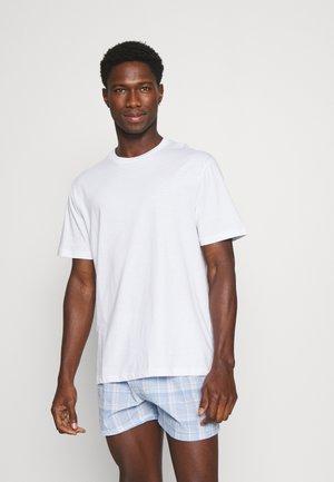 Pyjama set - light blue/white