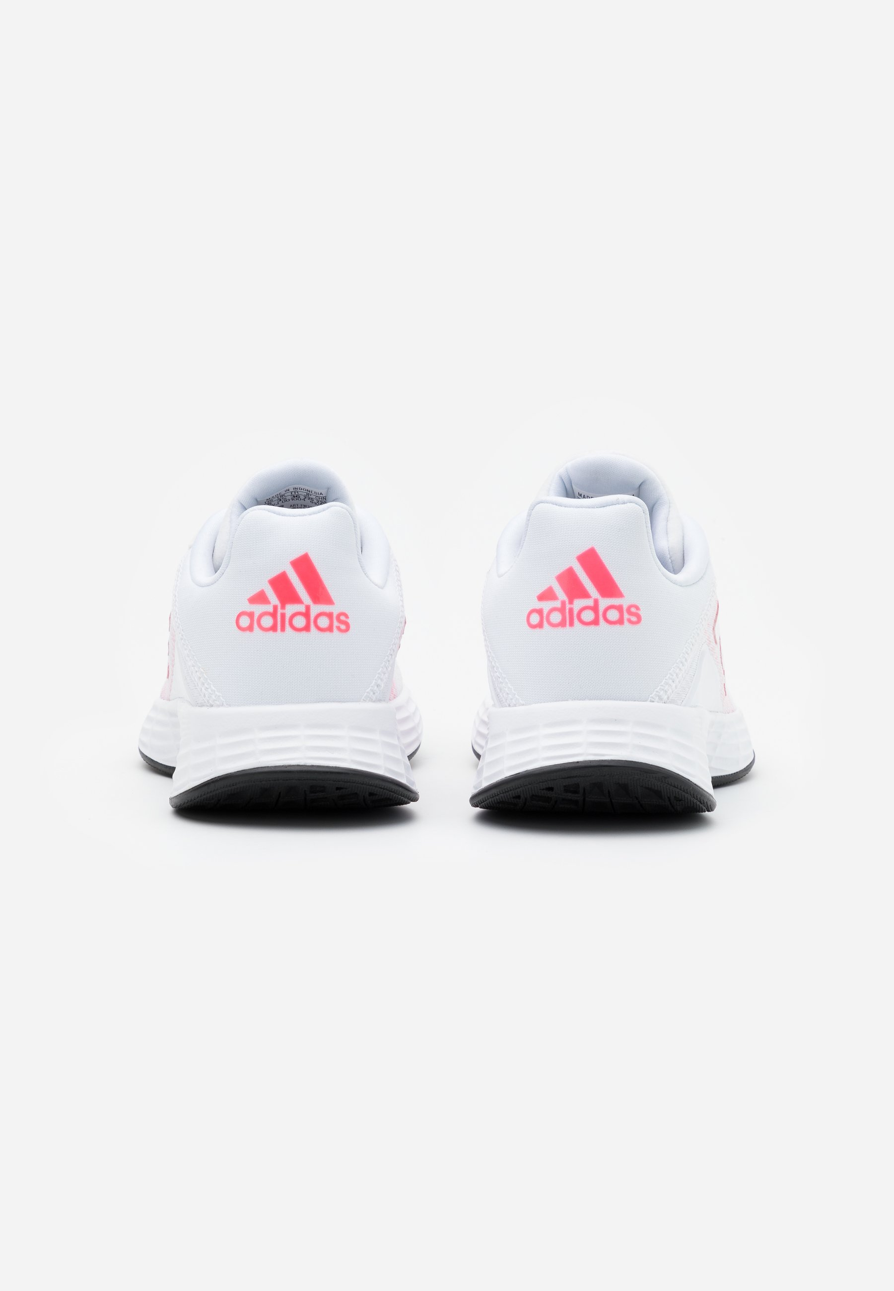 adidas Performance DURAMO CLASSIC LIGHTMOTION RUNNING SHOES - Nøytrale løpesko - footwear white/signal pink