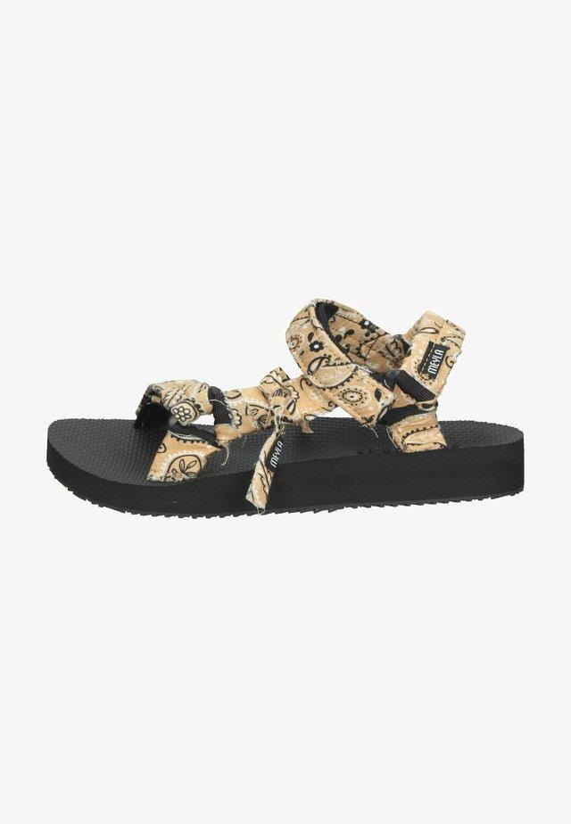Sandalen met plateauzool - bandana beige
