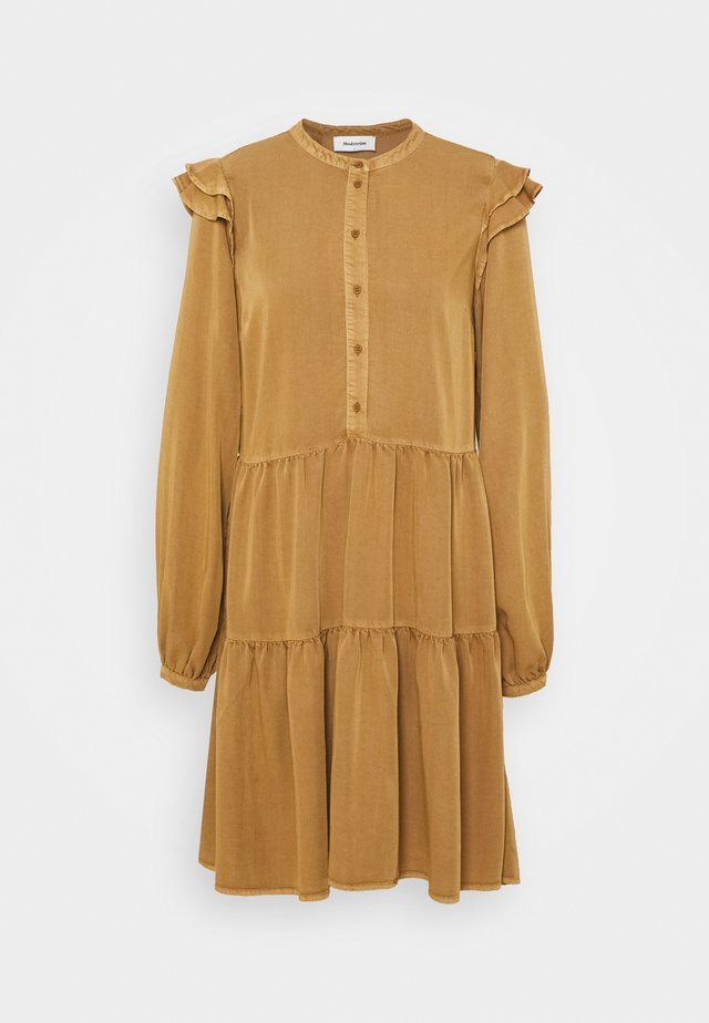 HENRY DRESS - Shirt dress - brown oak