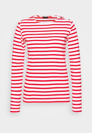 T-shirt à manches longues - off-white/red