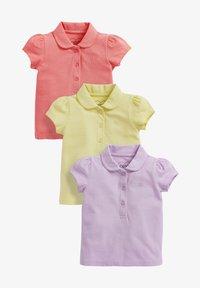 Next - 3 PACK - Polo shirt - neon pink - 0