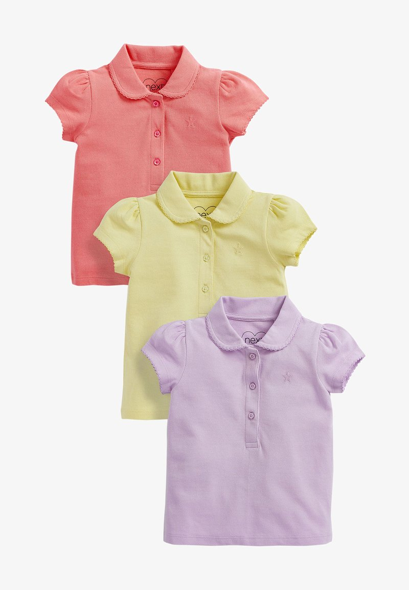 Next - 3 PACK - Polo shirt - neon pink