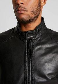 Strellson - FLAG - Leather jacket - black - 5