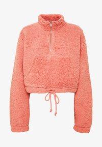 Topshop - BORG FUNNEL POCKET - Fleece jumper - pink - 4