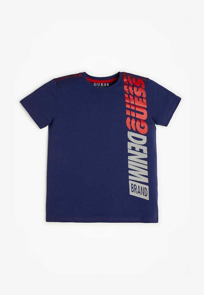 Guess - Print T-shirt - blau