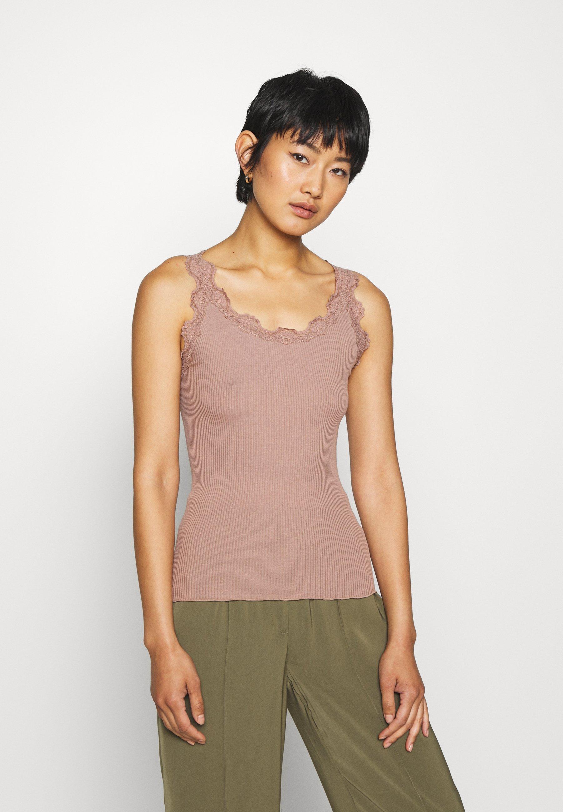 Rosemunde REGULAR VINTAGE - Débardeur - nougat brown - Tops & T-shirts Femme jsUJV