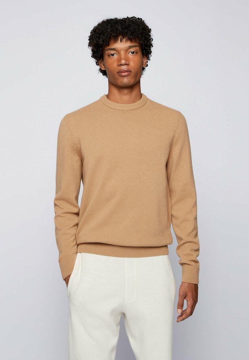 BOSS - KONTREAL - Stickad tröja - beige