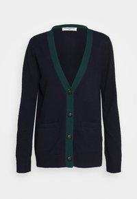pure cashmere - CLASSIC CARDIGAN - Kardigan - dark navy/deep green - 0