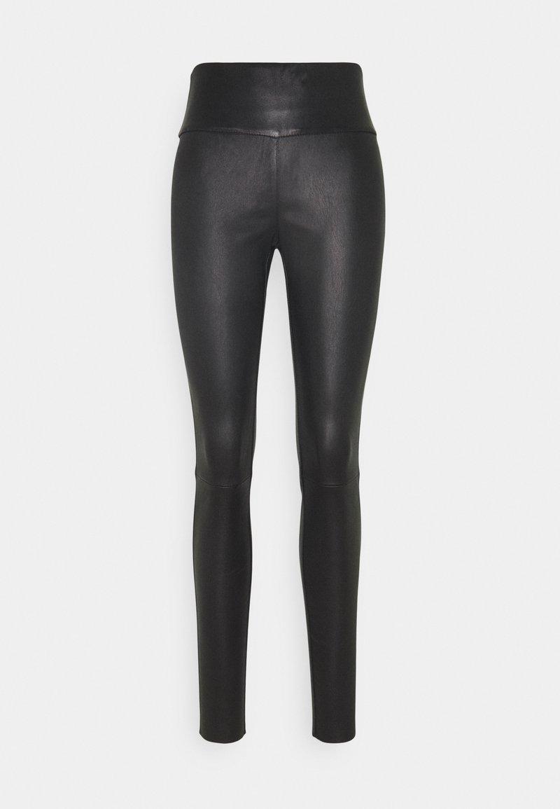 Ibana - MOLLY PLAIN - Trousers - black