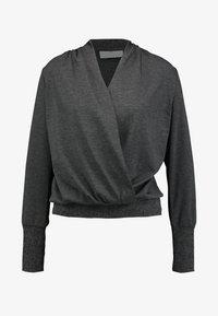 Kaffe - KAPONY WRAP - Sweter - dark grey melange - 4