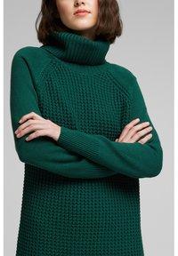 edc by Esprit - COWL NECK - Jumper dress - dark teal green - 3