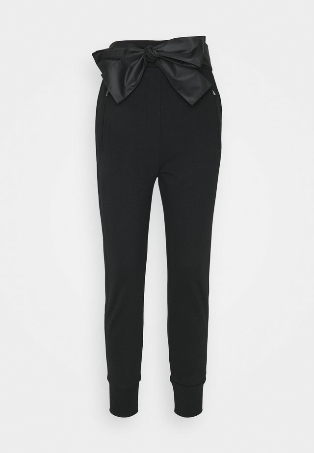 FRENCH TERRY JOGGER TIE - Jogginghose - black