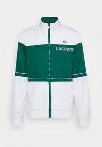 Lacoste Sport - TRACK SUIT - Verryttelypuku - bottle green/white - 9