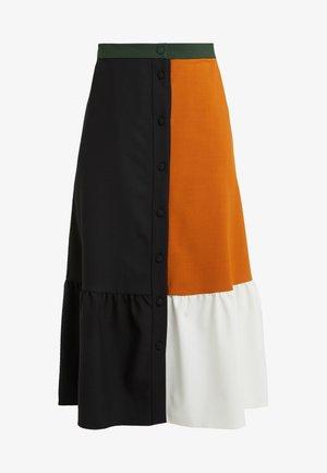 COLOUR BLOCK SKIRT - A-line skirt - black/multi