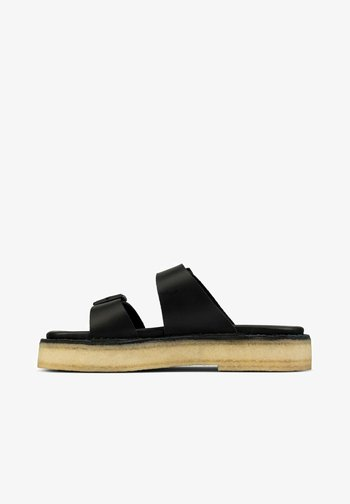 DESERT - Mules - black leather