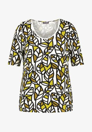 1/2 SLEEVE - Print T-shirt - citronella gemustert