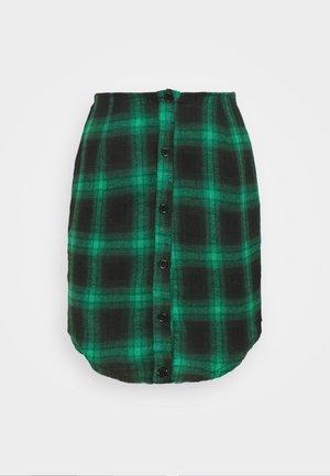BUTTON THROUGH SKIRT - Mini skirts  - green