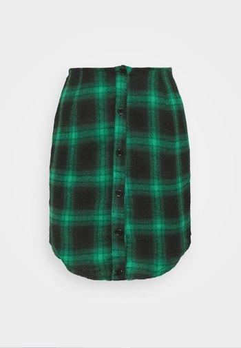 BUTTON THROUGH SKIRT - Minigonna - green