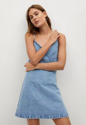 MONI-H - Denim dress - mittelblau