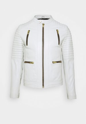 NEW LUX - Leather jacket - white