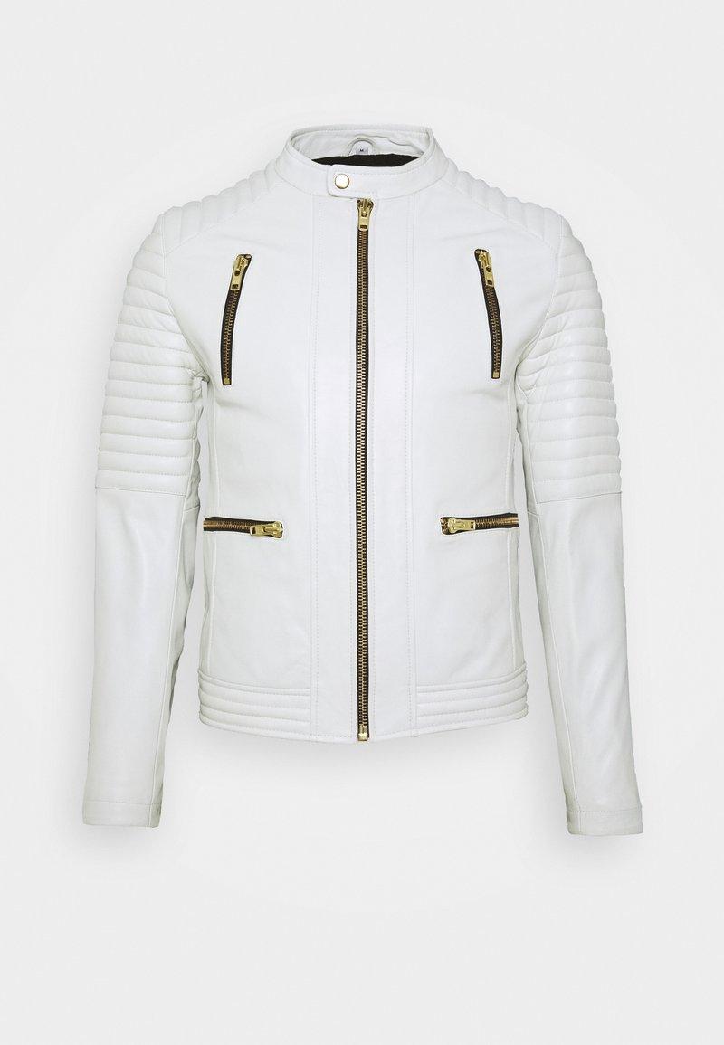 Serge Pariente - NEW LUX - Leather jacket - white