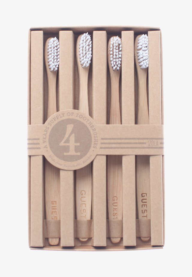SET OF FOUR BAMBOO TOOTHBRUSHES - Kroppsvård - set - -