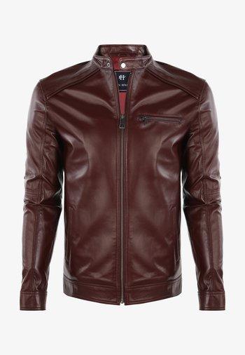 Leather jacket - bordeux