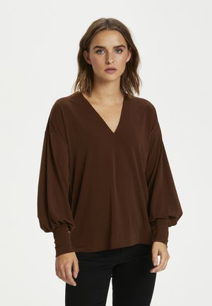 VANJA - Long sleeved top - bitter chocolate