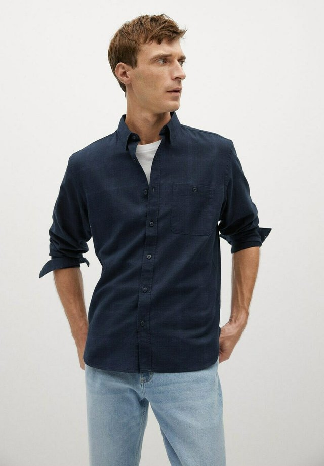 BRING - Overhemd - bleu marine foncé