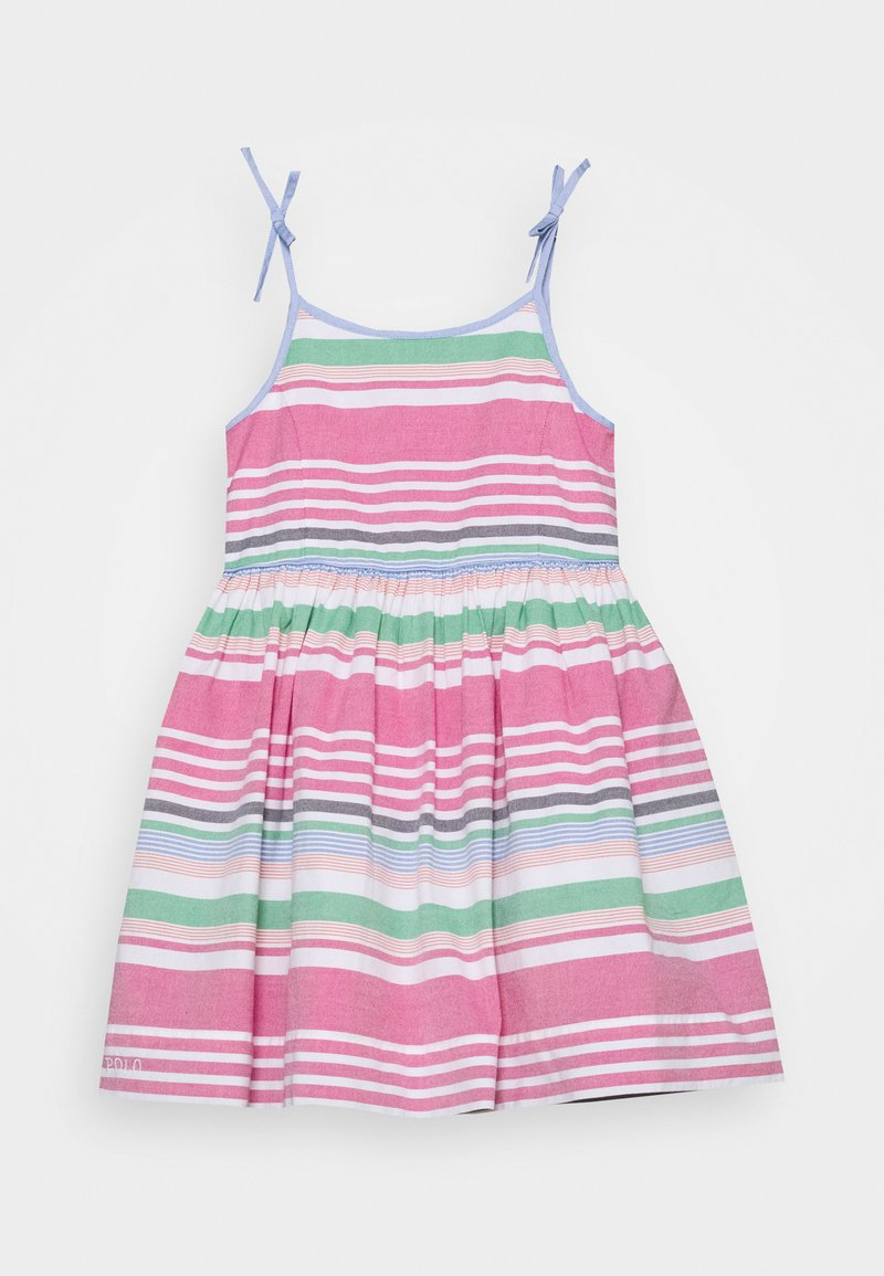 Polo Ralph Lauren - OXFORD STRIPE DRESSES - Day dress - pink multi