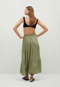 Mango - BAMBU - Maxi skirt - khaki - 2